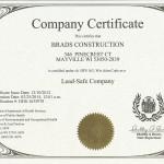 lead safe company certificate