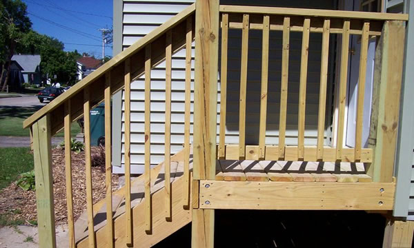 Pressure Treated Wood Deck Builder Mayville Wisconsin.