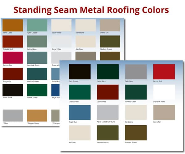 Metal Siding Colors : Standing seam metal roof colors roselawnlutheran