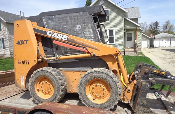 Skidsteer Services in Mayville, Wisconsin.