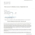 Dwelling Contractor Certification