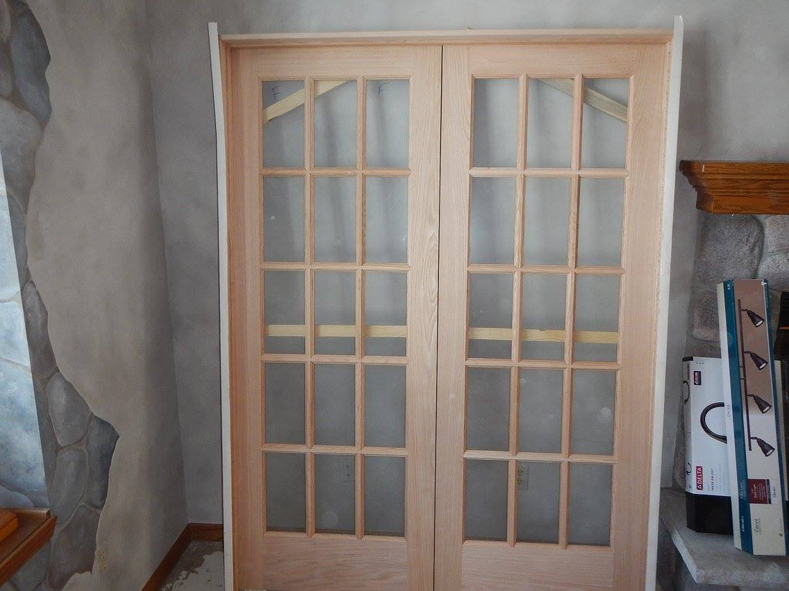The new french doors.