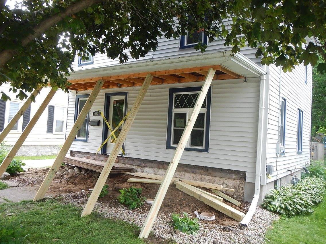 Front Porch Rebuild Brads Construction Exterior Specialists
