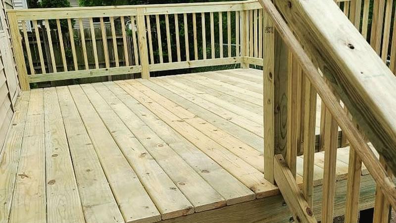 Storm Damaged Deck Repairs