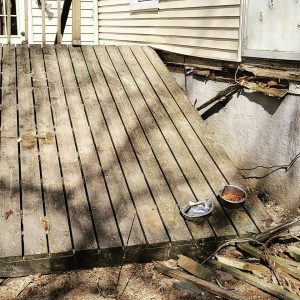 Storm Damage Deck Replacement